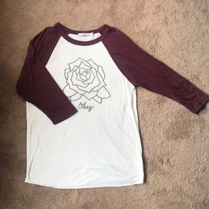 Obey 3/4 sleeve rose shirt